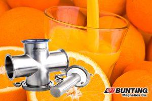 CR-MLT and Citrus-Magnetic Liquid Traps Keep Orange Juice Safe-Magnetic Liquid Traps-Bunting Magnetics-Newton, KS