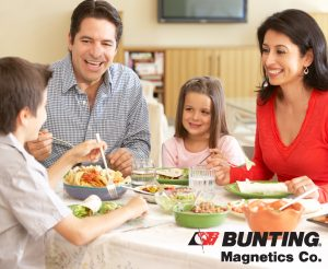 family-eating-Metal Detection Protects Food and Families-Bunting Magnetics-Magnetic Separation-Newton, KS