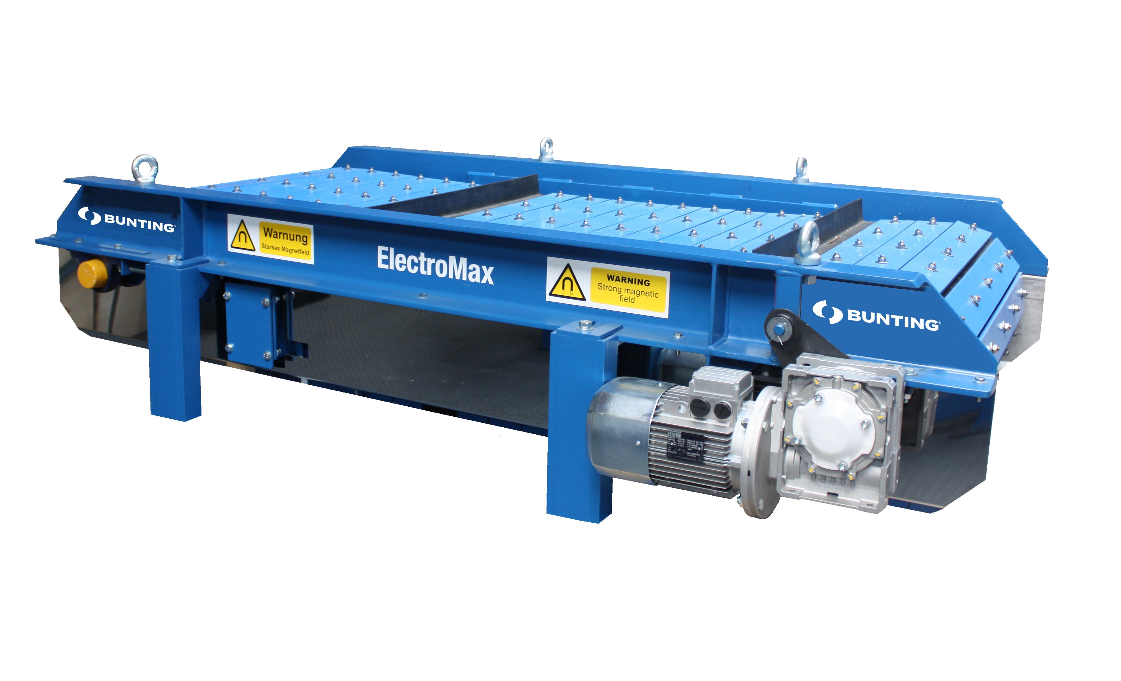 ElectroMax Crossbelt Magnetic Separator electromax1-blue-bunting